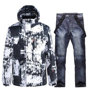 Snowboarding sets -30 men and women ski suit ski jackets and pants very warm windproof waterproof for snow street winter clothes