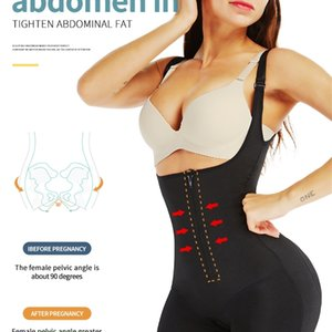VIP 링크 AICONL 여성 바디 셰이퍼 Bodysuit 라텍스 엉덩이 엉덩이 경기 탑 컨트롤 허리 쉐이핑 슬리밍 속옷 201224