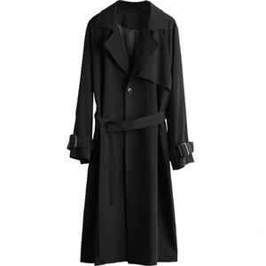 Temperament Windbreaker 2021 New Mid-length Black Coat Women's Spring Autumn Trench Coats for Women Outerwear 103a
