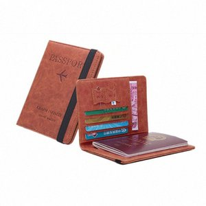 Держатель RFID Safe Card Кошелек Многофункциональная сумка Обложка на держатель паспорта протектор бумажника визитной карточки Soft Обложка для паспорта 536L #