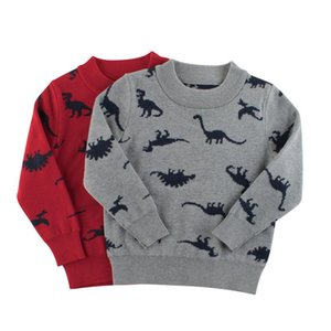 Baby Boys Winter 2020 Autumn Cartoon Dinosaur Pullover Knit Warm Sweaters Christmas Costume Girls Kids Printing Sweaters Clothes jllnWW