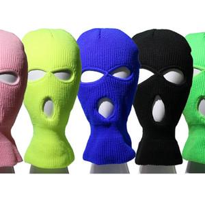 Мужчины Женщины Велоспорт Cap Универсальный Face Cover Hat Ухо защиты шеи шерсти Hat Осень Зима Вязаные пуловер Cap DDA623