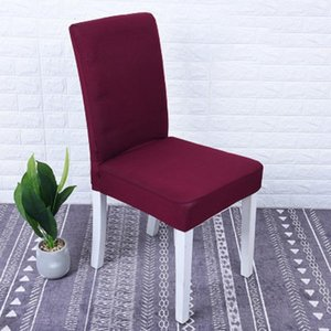 1 2 4 6Pc Solid Color Cover Spandex Stretch Elastic Slipcovers Chair Covers for Hotel Kitchen Dining Room Banquet
