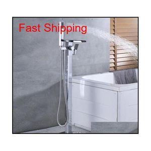 Floor Mounted Bathtub Faucet Free Standing Led Tub Filler Mixe jllncI yeah2010