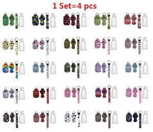 36 estilos 1 Set = 4pcs Más Diseño Neopreno Mano Desinfectante Botella Botella Soporte de pulsera Chapstick Holder 30ml Botella