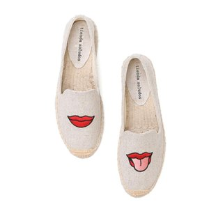 Tienda Soludos Espadrilles Damen Mode flache Schuhe 2020 neue Rushed Zapatillas Mujer Espadrille Fischer Driving Straw