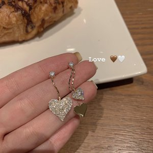 Love Earrings Femininity Exquisite Earrings Advanced Sense Joker Ab Earrings Asymmetric Ear Clip R893