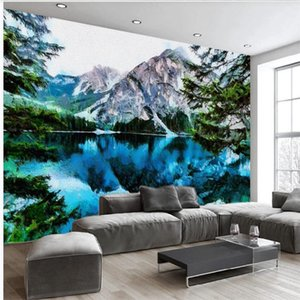 beautiful scenery wallpapers Abstract landscape wallpapers oil painting tv background wall mural