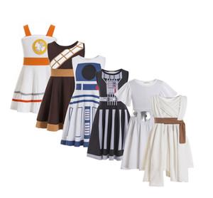 Costumes Rey Leia Chewbacca R2d2 Darth Vador BB8 BB8 C3PO Halloween da família de Cosplay