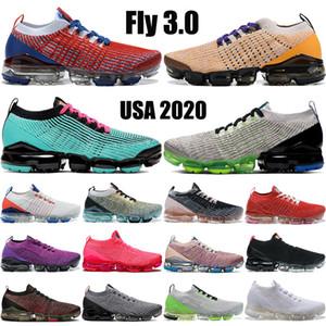 New Fly 3.0 Herren-Schuhe USA Vast Grau Dunkel Stuck lebendige lila schwarz Schlangenhaut edlen rot stricken Männer Frauen Turnschuhe Turnschuhe laufen