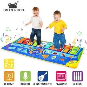 DataFrog Dance Gaming Mat for Kids Music Piano 10 llaves musicales antideslizante Dancing Mat Pad Music Function Music Dance Mat 201211