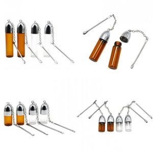 3,6 cm 5,7 cm 7,2 cm Höhe Kunststoff Glasflasche Schnupftabak Dispenser Bullet Rocket Snorter Sniff Stash Mit Scrapper Container Löffel 270 N2