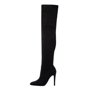 2020 Hot Sale New Over The Knee Boots Women Sexy Pointed Toe Zip Stiletto High Heels Prom Boots Drop Shipping Women Shoes