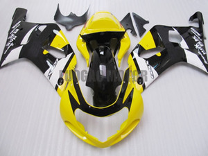 Fairings kit+gifts for SUZUKI K1 GSXR600 750 GSXR750 2001 2002 2003 K3 GSXR-600 GSXR-750 01 02 03 body kits bodywork yellow white black