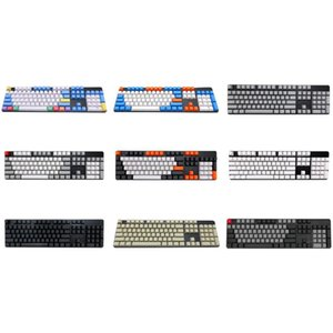 Double Shot PBT 108 KeyCaps retroiluminado para Cherry MX Keyboard Keyboard Switch Mecânica
