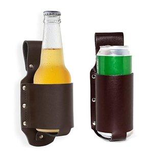 Beer Belt Waist Bottle Holder Outdoor Portable Barbecue Bag Beverage Camping Leather Case Beer Bag Cola Hanging