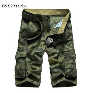 BSETHLRA 2020 Nouveau Cargo Hommes d'été Top Design Camouflage Shorts de Casual Homme militaire Coton Mode Marque Vêtements Q1107