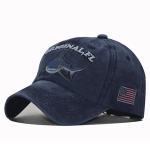 Son Beyzbol Şapkası Pamuk Işlemeli Köpekbalığı Şapka Erkek Tasarımcı Moda Kap Tasarımcılar Caps Şapka Erkek