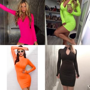 qttr0 color s- frauen knielang lässig mit kapuze babil hoodie pullover designer sleeve long pocket hochwertig bodycon tunika dress schlank