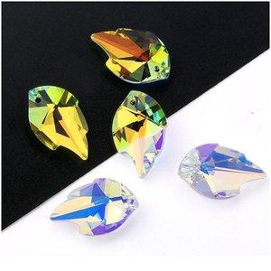 Migliore Qualità 25mm 6735 Pendente a foglia Pendente in cristallo Foglia di strass perline Gens per orecchini Collana Accessori per gioielli fai da te Qylowz