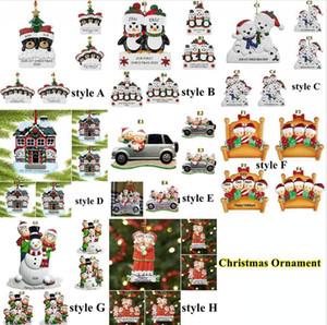 DIY Christmas Ornament 8 Styles 2020 Quarantine Christmas Greeting Birthday Party Pandemic Distancing Christmas Tree Pendant Decor DDA639