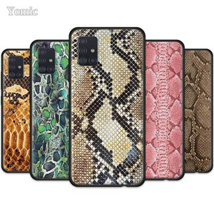 Pink Leather Snake Case for Samsung Galaxy A50 A51 A70 A71 A20e A40 S20 S10e S10 Plus Black Soft Mobile Phone Cover Note 10 Lite