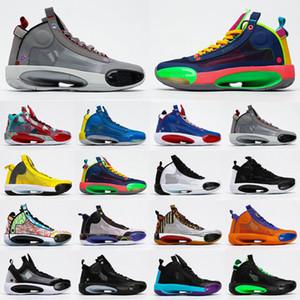 Jumpman 34 Shoes Men Basquete XXXIV Rui Hachimura X Património 34s Infrared 23 esportes tênis Zoo Noah gato da neve Leopard Preto Crispy Mens