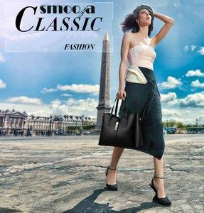Sac à main en cuir Smooza épaule bourse femmes Satchel Messenger Sacs à bandoulière Sac Noir Bleu Femmes Handbags2020 Nouveau