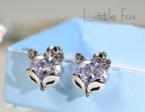 2020 new S925 silver needle simple fashion little Fox ear nail Korean version simple temperament 120