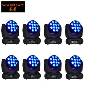 TIPTOP 8pcs lot LED 12x12w moving head light rgbw 4in1dmx beam high-brightness High power beam effect stage disco led lighting