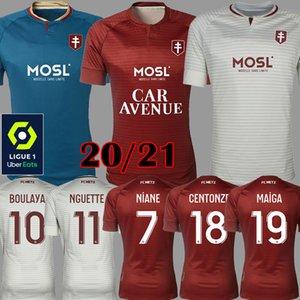 مايوه دي القدم 20 21 FC METZ كرة القدم البلوزات 2020 2021 BOULAYA DIALLO CENTONZE BRONN فاجنر NIANE فوفانا فاجنر منزل FOOTBALL SHIRT تايلند