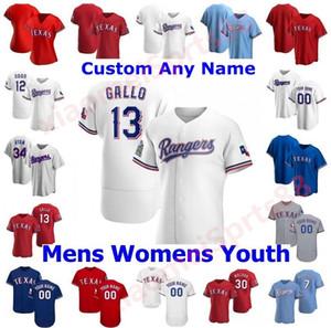2020 hombres Mujeres Niños Texas Joey Gallo Auténtico Auténtico Odor Shin-soo Choo Elvis Andrus Ronald Guzman Adrian Alexis Rangers Baseball Jerseys