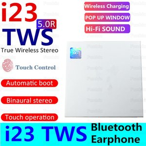 i23 tws bluetooth 5.0 wireless bluetooth headphones support pop up window Earphones touch control headset earbuds wireless charging cheapest