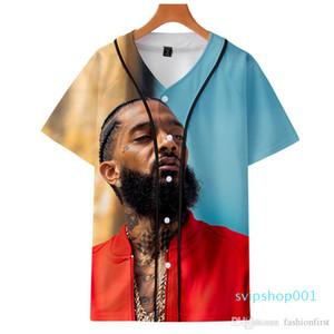 Fashion print nipsey hussle souvenir baseball jersey hoodie hot seller rappers T-shirt Hip Hop Art Men's and Women's Graphic Tee