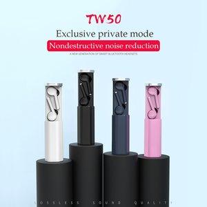 TW50 TW50 EAR PHONES Bluetooth wireless TWS Mini Auricolari con auricolari stereo a doppio microfono