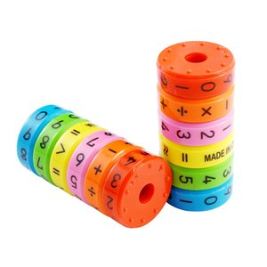 6pcs  Set Magnetic Math Numerical Beads Intelligence Arithmetic Learning Aid Preschool Educational Plastic Toys For Children Diy Puzzles