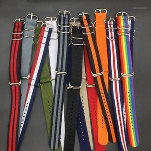 MR NENG Heavy Duty Green Nylon Straps 18mm 20mm 22mm 24mm Nylon Watch Band NATO Strap Black Zulu Strap Watch 5 Ring Buckle1
