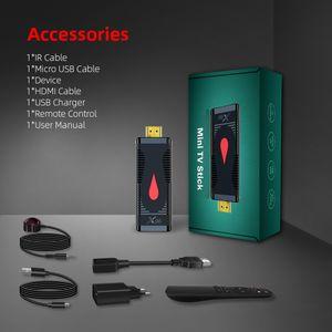 X96 S400 Android 10.0 TV STICK Allwinner H313 Dört Çekirdekli 4 K 2.4G Wifi Media Player 1G 8G / 2G 16G TV Kutusu Mini Dongle