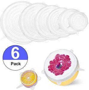 Çanak Kupalar Kutular Fonksiyonlu Taze Tasarrufu GGD2334 için SET Yeniden kullanılabilir Silikon Gıda Wrap Expanded Silikon Çizilmeye Kapaklar Evrensel Scratchy