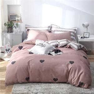 Deer Tropical Blatt 4pcs Bettdecke Set Cartoon Bettbezug Kind Erwachsene Bettlaken und Kissenbezüge Tröster Bettwäsche-Set 61001