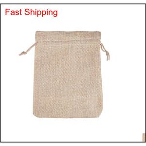 7x9cm 9x12cm 10x15cm 13x18cm Original Color Mini Pouch Jute Bag Linen Hemp Jewelry Gift Pouch Drawstring Bags For We jllWGo dayupshop