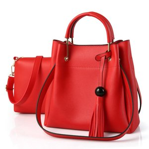 Favocent A set of Two Bags Woman Fashion Casual Totes Large Capacity Shoulder Bag Handbags Solid Color PU bags