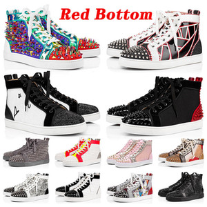 Red Bottoms Platform Luxurys Designers Sneakers Studded Spikes loafers Mens Womens Trainers Designer Red Bottom Luxury flats Casual Shoes
