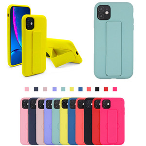 11 PRO MAX XS에 대한 스탠드 XR 7 8 플러스 아이폰 (12) 안티 얼룩 보호 뒷 표지에 대한 다채로운 부드러운 액체 실리콘 케이스