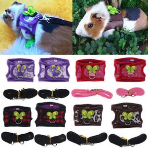 Hamster Koşum Yelek Ayarlanabilir Tasma Set Gine Domuzu Chinchilla Fareler Sıçan Gelincik Küçük Hayvan Accessorie Q1224