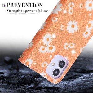 caso fiore per iPhone 11 di cuoio di lusso Pro pu stampato forte telefono chiuso magentic CoverFor iPhone 12Promax