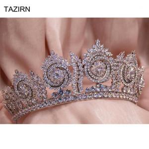 Queen Crowns Zirkonia Tiaras Kristall Frau Tiara Princess Diadem für Pageant Party Hochzeitszubehör1