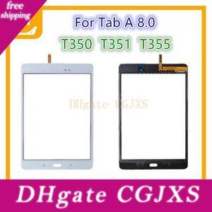 20шт Dhl сенсорный экран Digitizer стекло объектива с клейкой лентой для Samsung Galaxy Tab A 8 +0,0 T350 Vs T351 T355 запасных частей