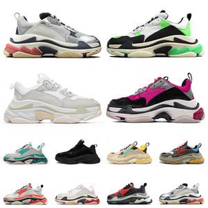 2021 مصمم أحذية رياضية 17FW أزواج شقة عارضة الأحذية الثلاثي s الرجال النساء منصة الثلاثي الأبيض جميع الفم الصوت الأسود الثلاثي خمر المدربين القدامى