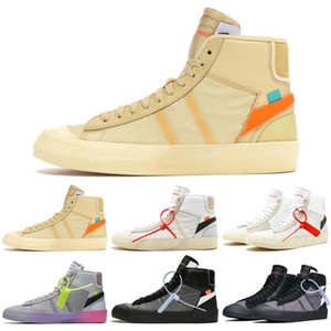 Nike Blazer The Ten OW 2020 السترة استوديو منتصف العشر 10 ملكة جميع يقدس حواء قاتمة Reepers مخيف حزمة SB غريم ريبر احذية الاحذية